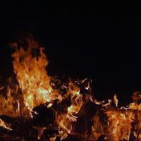 feu représentant le lieu de tourment